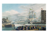 The Opening of St. Katharine Docks, Saturday the 25th October 1828 Giclee Print by Edward Duncan