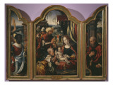 Adoration of the Magi, Epiphany Triptych, C.1540 Giclee Print by Pieter Coecke van Aelst
