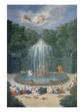 The Groves of Versailles. View of the Star or Mountain of Water with Alph Persuing Arethusa Giclee Print by Jean Cotelle the Younger