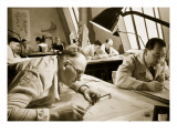 A Drawing Office Scene, Where New Plans for Fresh Works are Drawn Up Giclee Print by  German photographer