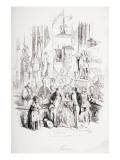 I'M Married, Illustration from 'David Copperfield' by Charles Dickens Giclee Print by Hablot Knight Browne