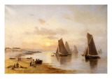 When the Boats Come Home, Skerries Beach, Evening, 1889 Giclee Print by Alexander Williams