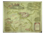 Plan of the Battle of Mollwitz on the 10th April, 1741 Giclee Print by  German School