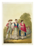 Peruvian Men and Women in Traditional Costume Giclee Print by Gallo Gallina