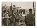Bannockburn: Bruce Reviewing His Troops before Battle Giclee Print by  English School
