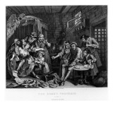 The Rake in Prison, Plate Vii, from 'A Rake's Progress' Giclee Print by William Hogarth