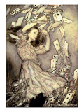 Illustration from 'Alice's Adventures in Wonderland' by Lewis Carroll Gicleetryck av Arthur Rackham