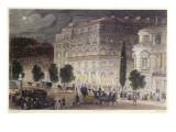 View of the Boulevard Des Italiens, Engraved by E. Radclyffe, C.1840-50 Giclee Print by Eugene-Louis Lami