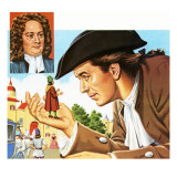 Gulliver&#39;s Travels, with Inset of its Author Jonathan Swift Giclee Print by John Keay