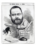 Emile Zola as a Naturalist, from 'L'Eclipse' Premium Giclee Print by André Gill