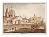 View of the Exterior of the Church of Santa Maria Del Popolo, 1833 Giclee Print by Agostino Tofanelli