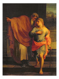 Jacob Sending His Son, Joseph, to Look for His Brothers at Sichem Giclee Print by Eustache Le Sueur