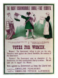"Women's Suffrage Poster ""The Right Dishonourable Double-Face Asquith"", C.1910 Giclee Print by  English School"