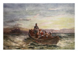 The Escape of Mary Queen of Scots from Loch Leven Castle Giclee Print by James Francis Danby