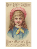 Advertisement for Fisk Manufacturing Co. White Prussian Soap, C.1880 Giclee Print by American School