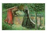 Arthur's Tomb: Sir Launcelot Parting from Guenevere, 1854 Giclee Print by Dante Gabriel Rossetti