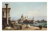 The Piazzetta Venice, Looking Towards the Dogana and Santa Maria Della Salute Giclee Print by Bernardo Bellotto