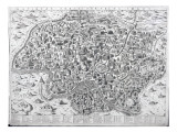 Antiquae Urbis Perfecta Imago, Map of Rome, C.1600 Giclee Print by Ambrogio Brambilla