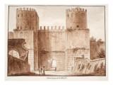 The Porta Capena or Porta San Sebastiano, 1833 Giclee Print by Agostino Tofanelli