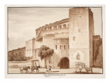 Exterior View of the Porta Prenestina or Nevia, 1833 Giclee Print by Agostino Tofanelli