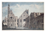 Facades of the Churches of St. Genevieve and St. Etienne Du Mont, Paris, C.1800 Giclee Print by Angelo Garbizza