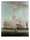 The Battle of Dogger Bank, Showing the `Holland' at the Rear of the Dutch Line Giclee Print by Engel Hoogerheyden