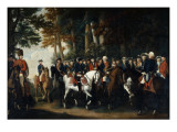 King Frederick Ii's Return from Preussen Von Manoever, C.1785 Giclee Print by  German School