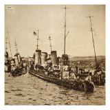 Scuttling of the German Fleet, Scapa Flow, 1919 Giclee Print