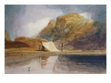 A Mountainous Lake with a Tent Pitched on the Shore Giclee Print by John Sell Cotman