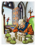 Giant Counting Money in His Castle, Illustration from 'Jack and the Beanstalk', 1969 Giclee Print by  English School