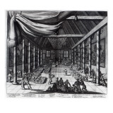 The Royal Banquet, Illustration from 'Atlas Chinensis' by Arnoldus Montanus, 1671 Giclee Print by  Dutch School