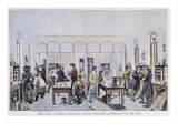 View of the Chemistry Laboratory of Baron Justus Von Liebig Giclee Print by Carl Friedrich Wilhelm Trautschold
