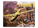 B-24 Liberator Bombers Doing Service in World War Ii Giclee Print by Graham Coton