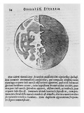 Map of the Moon, Illustration from 'sidereus Nuncius' by Galileo Galilei, 1610 Giclée-tryk af  Italian School