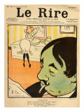 Humorous Cartoon from the Front Cover of 'Le Rire', 22nd April 1899 Giclee Print by  Metivet