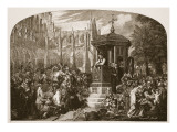 Latimer Preaching to the Civil Authorities at Paul's Cross Giclee Print by Sir George Hayter