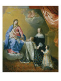 The Virgin Mary Gives the Crown and Sceptre to Louis Xiv, 1643 Giclee Print by Philippe De Champaigne