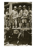 Venustiano Carranza on Board a Train with His Officers, 1914-20 Premium Giclee Print