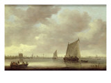Shipping on the Kil with `Oude Wachthuis' and the Grote Kerk, Dordrecht Beyond Giclee Print by Jan Josephsz. Van Goyen