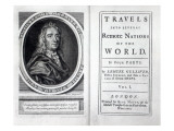 Frontispiece and Titlepage to 'Gulliver's Travels' by Jonathan Swift, 1726 Giclee Print by  English School
