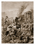 Boadicea's Attack Upon Camulodunum, 60Ad, Illustration from 'The History of the Nation' Giclee Print by Henry Payne