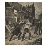 Street Fight Between a Tamer and a Street Seller, from 'Le Petit Parisien', 26th April 1891 Giclee Print by Beltrand and Clair-Guyot, E. Dete