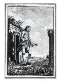 Gulliver Amongst the Lilliputians, Illustration from &#39;Gulliver&#39;s Travels&#39; by Jonathan Swift Giclee Print by Johann Sebastien Muller