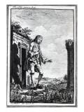 Gulliver Amongst the Lilliputians, Illustration from 'Gulliver's Travels' by Jonathan Swift Giclee Print by Johann Sebastien Muller