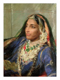 Portrait of Rani Jindan Singh, in an Indian Sari Giclee Print by George Richmond