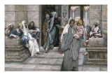The Widow's Mite, Illustration for 'The Life of Christ', C.1884-96 Giclee Print by James Jacques Joseph Tissot