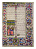 Fol.44R Opening Words of Leviticus, from the Borso D'Este Bible. Vol 1 Premium Giclee Print by  Italian School