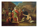 Alexander the Great Visits Diogenes at Corinth, 1787 Giclee Print by Ivan Philippovich Tupylev