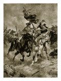 The Battle of Blenheim: the Cavalry in Action Giclee Print by Henry Payne