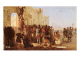 Grand Duke Oleg Nailing a Shield to the Gates of Tsargrad Giclee Print by Nikolai K. Bodarevski
